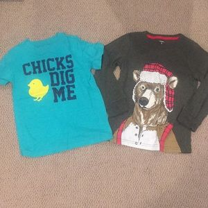 Boys carters size 5 shirts